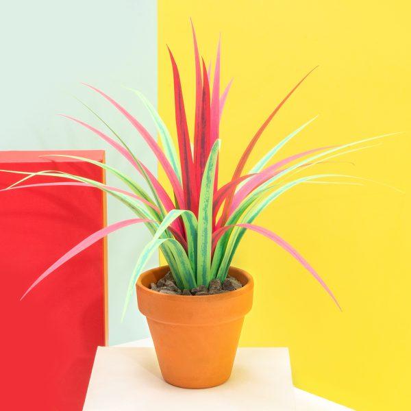 jungla, plantas de papel cinta fondo creativo