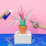 jungla, plantas de papel cinta fondo creativo1