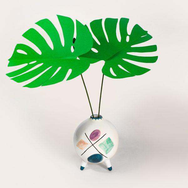 jungla, plantas de papel hojas de monstera2