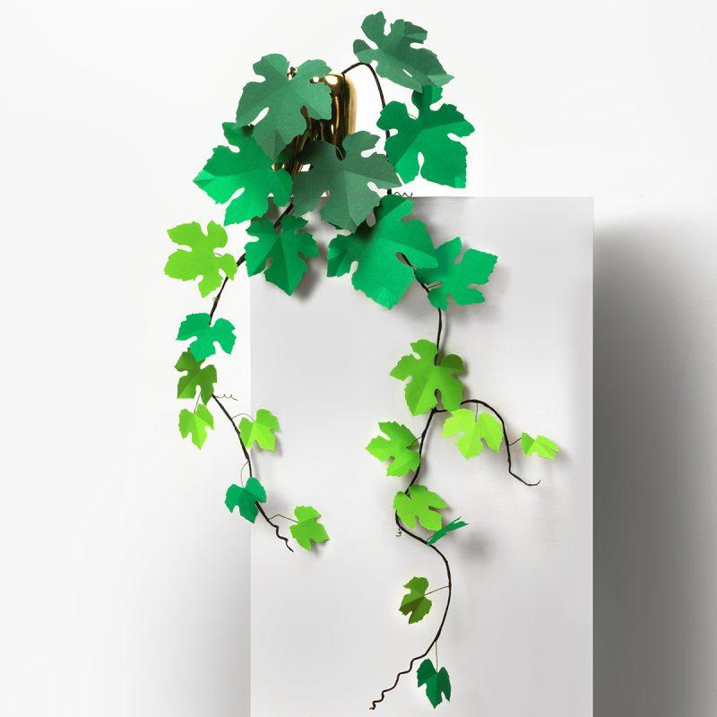 jungla, plantas de papel. ramas de vid